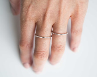 Sterling Silver Beaded Ring