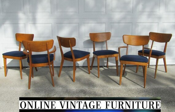 Like this item? - 6 Heywood Wakefield 1950s Chairs Vintage Mid Century