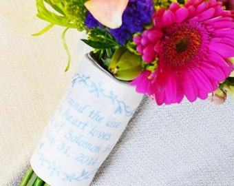 Bouquet Wrap with Prase or Verse