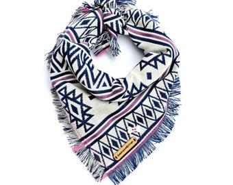 Personalized Dog bandana - KLONDIKE // Dog Bandana // Dog gift // Bohemian // Aztec dog bandana // Tribal dog bandana // Dog scarf