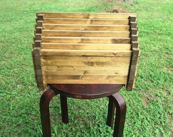 Handmade wooden gem keepsake box for jewelry/storage