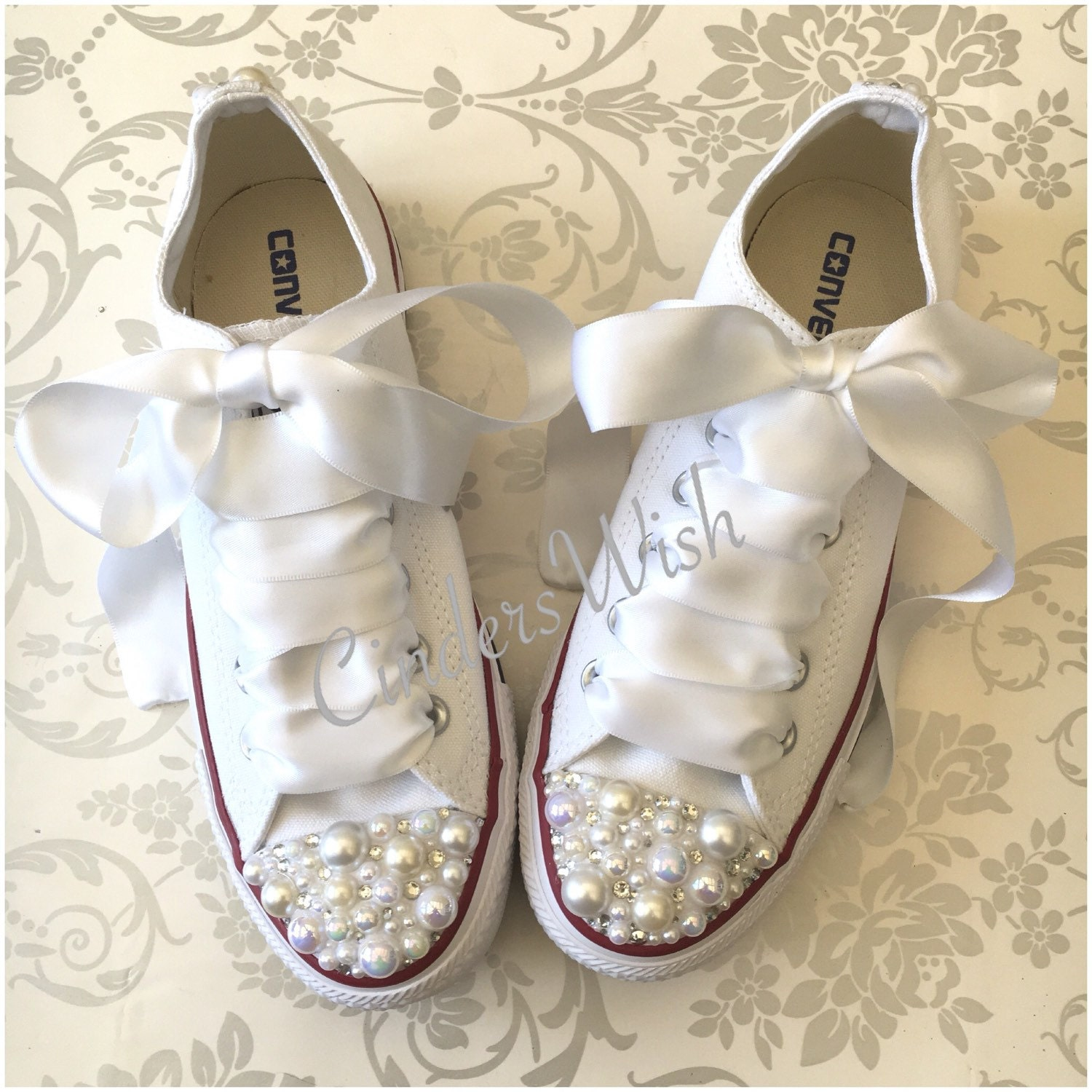 fetching how to design converse shoes at home.  zoom Pearl Converse bridal converse wedding bride