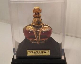 Vintage 1950's Prince Matchabelli Golden Autumn Perfume 0.25 oz
