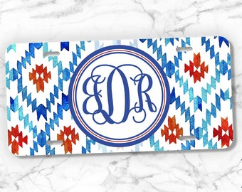 Monogram Front License Plate, Monogram Car Tag, Personalized gift, Vanity Plate, License Plate Monogram, Custom License Plate, Gift for Her