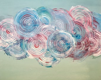 Spirals - Contemporary Acrylic Painting on Canvas