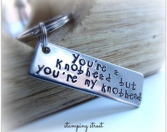 Knobhead Keyring, Gifts for Husband, Gifts for Boyfriend, Keychain, From Wife, Girlfriend, Gifts for Valentines Day, Funny, Rude Present