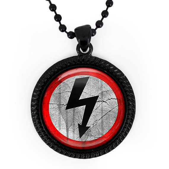 Marilyn Manson Logo Necklace Gothic Shock Rock Arrow Symbol
