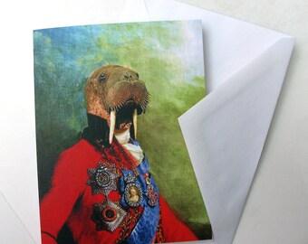 Sir Odobenus Rosmarus - Note Card