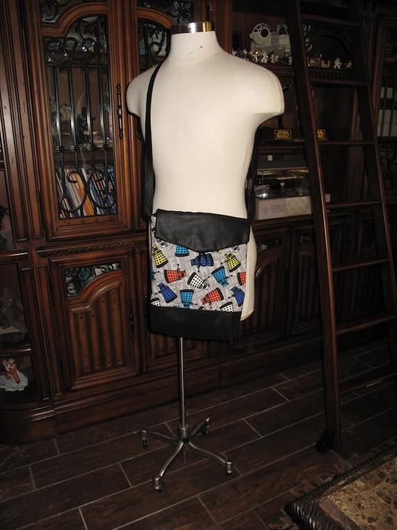 Dr. Who Dalek print unisex shoulder bag or crossbody bag size 14x11x3