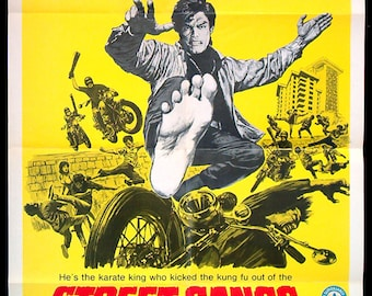 Street Gangs Of Hong Kong original 1974 movie poster kung fu martial arts