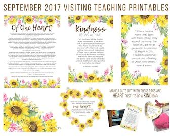 September 2017 Visiting Teaching Message Printable Instant Download - LDS - Mormon - VT Message