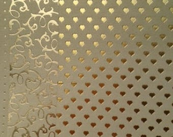 Gold embossed craft card