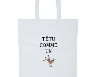 Bag * tote bag * pattern stubborn as a donkey