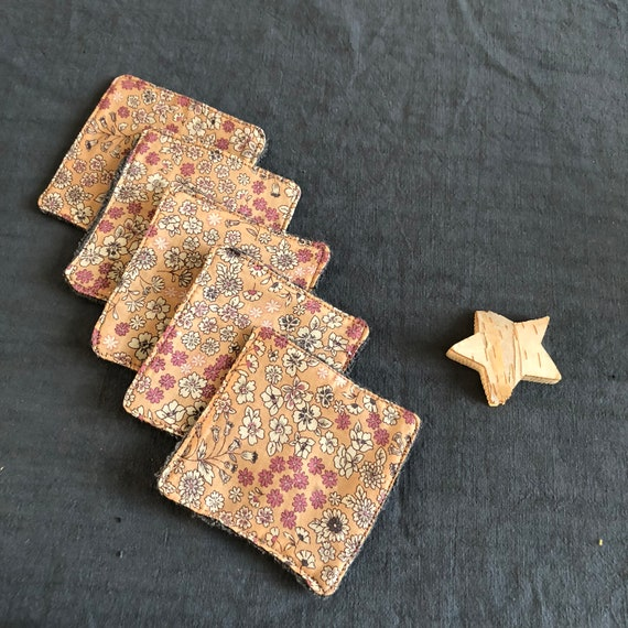 Made of cotton machine washable and reusable wipes