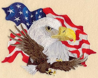 Spirit of the Eagle Embroidered Flour Sack Hand/Dish Towel