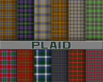 Plaid digital paper, plaid scrapbook paper, plaid background