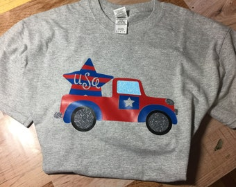 Patriotic Star Truck T-shirt