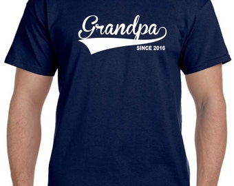 Personalized Grandfather Gift Grandpa Gift New Grandpa Grandfather Shirt Fathers Day Gift GRANDPA Since (ANY DATE) Personalized