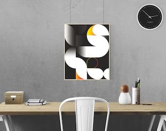 Geometry #5 Geometric Shapes Graphic Design Art Print
