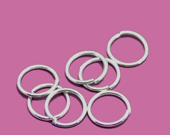 08mm silver jump rings