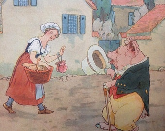 1915 Mother Goose Nursery Rhyme, Illustrated by Frederick Richardson