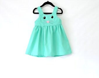 Bunny Girl Dress - Toddler Dress - Easter dress - Baby Girl - Spring Dress - Baby Girl Easter Outfit - Baby Dress - Toddler Easter Dress