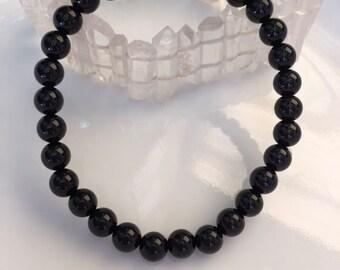 Black Agate Bracelet, HEALING, Reiki, Meditation, Spiritual Jewelry