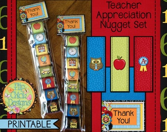 Printable Teacher Appreciation Nugget Set