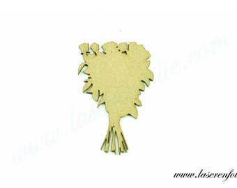 No. 2 with a bouquet of flowers made of medium size 5cm