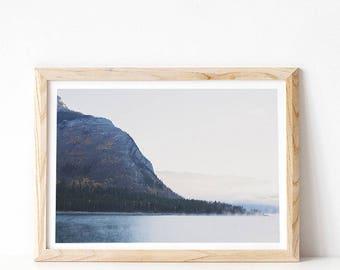 Landscape Print, Mountain Print, Large Wall Art Print, Mountain Art, Nature Printable DIGITAL DOWNLOAD, Landscape Photograph, Foggy Mountain