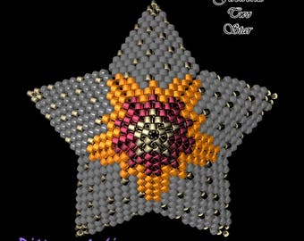 Beading Pattern/Tutorial FIREWORKS Two 3D PEYOTE STAR + Basic Instructions
