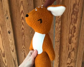 Henry the Deer, organic deer, stuffed animal