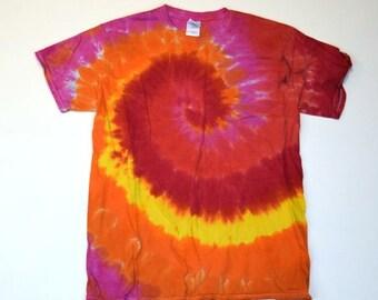 Plasma Reactor ~ Spiral Tie Dye T-Shirt (Gildan Ultra Cotton Size M) (One of a Kind)