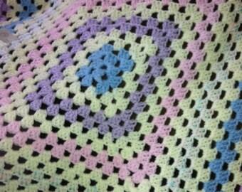 Pastel pink, blue, purple Baby Blanket