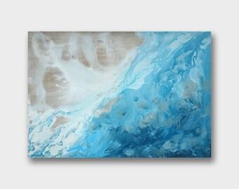 Salt sea 11,8 x 16,5'' Original Acrylic Painting On Canvas