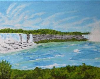 Niagara Falls - Acrylic on stretched canvas.