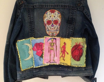 La loteria Mexican Denim Jacket //festival\\