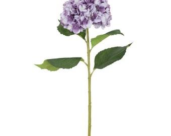 Artificial Lilac White Tones Hydrangea Flower H 84 cm
