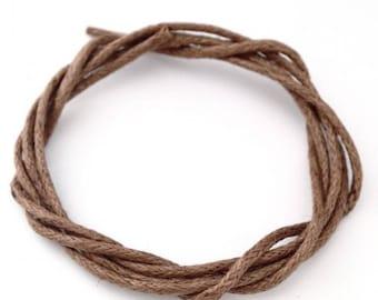 5 m 1mm♥ Brown cotton thread ♥