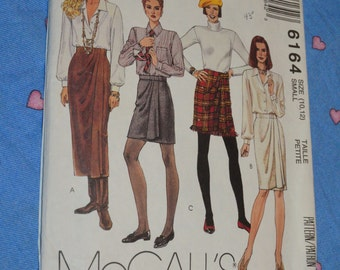 McCalls 6164  Misses Wrap Skirt in Three Lengths Sewing Pattern - UNCUT - Size Small ( 10 -12)