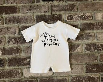 Gilmore Girls Baby, Gilmore Girls Baby Clothes, Gilmore Girls Baby Romper, Gilmore Girls Baby Shower Gift, In Omnia Paratus Baby, In Omnia