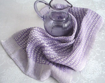 Kitchen towel, dish towel, tea towel, hand woven, lavender linen towel