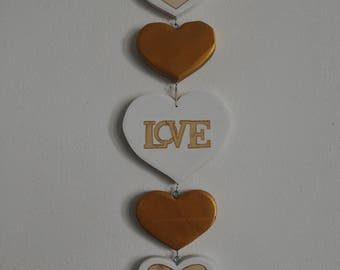Gift Heart Love-wood-wall decoration