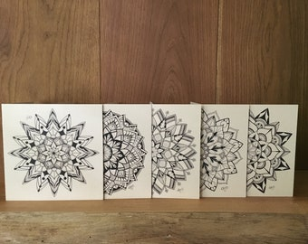 Set Greeting Cards Mandala