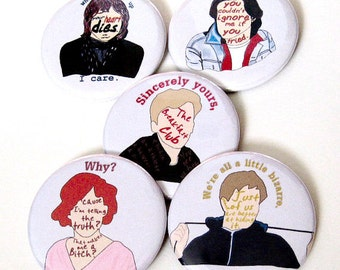 Breakfast Club Button |  80s Pins | Movies Pinback Buttons | Magnet | Button Sets | The Brat Pack | Classic Movie Buttons | Magnet