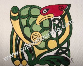 Bird of the book of Kells (Celtic style)