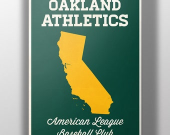 Oakland Athletics  Minimalist Print