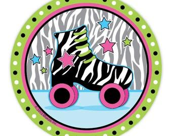 Retro Roller Skate Party Paper Plates/ Roller Skating Dessert Plates/ Skate Center Birthday/  sc 1 st  Etsy & Retro paper plates | Etsy