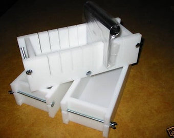 2/3 HDPE Soap Bar Slicer & No Liner Molds Wooden Lids Avail. E