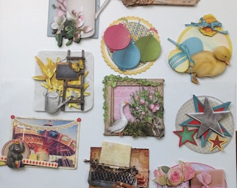 Set of 10 images mounted 3D for your achievements of cards, scrapbooking, cardmaking, crafting